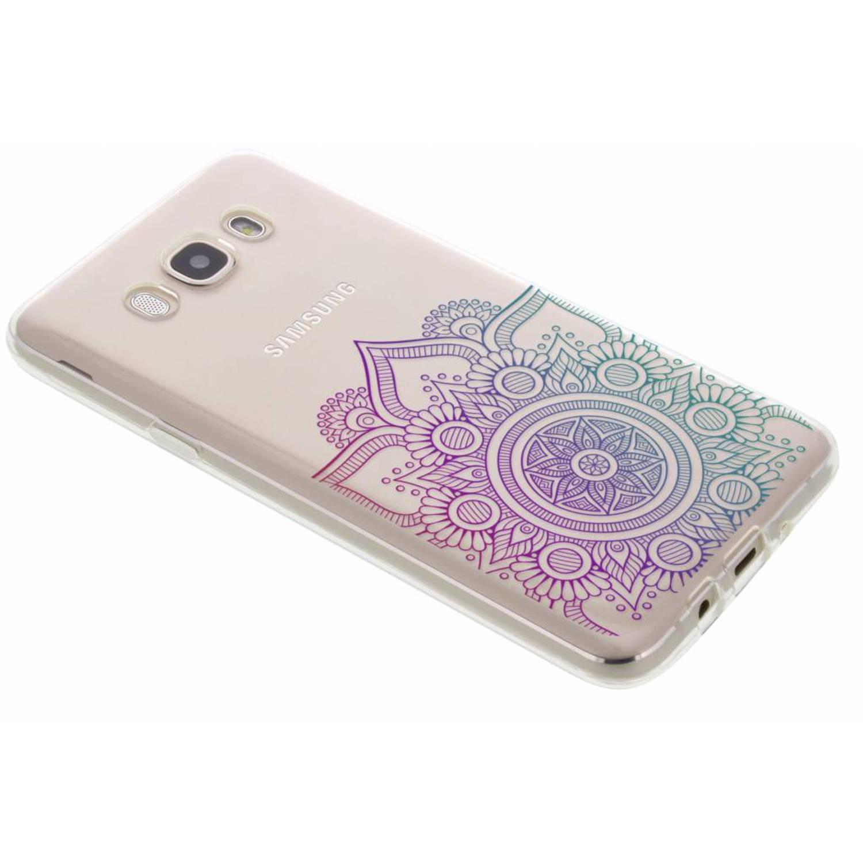 Multicolor mandala design TPU hoesje voor de Samsung Galaxy J7 (2016)