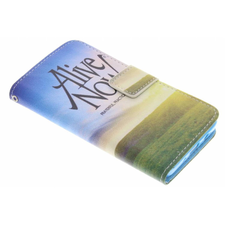 Alive now design TPU booktype hoes voor de Samsung Galaxy A3