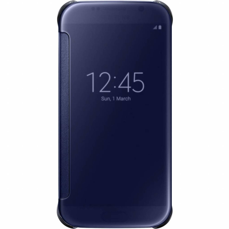Blauwe originele Clear View Cover voor de Galaxy S6