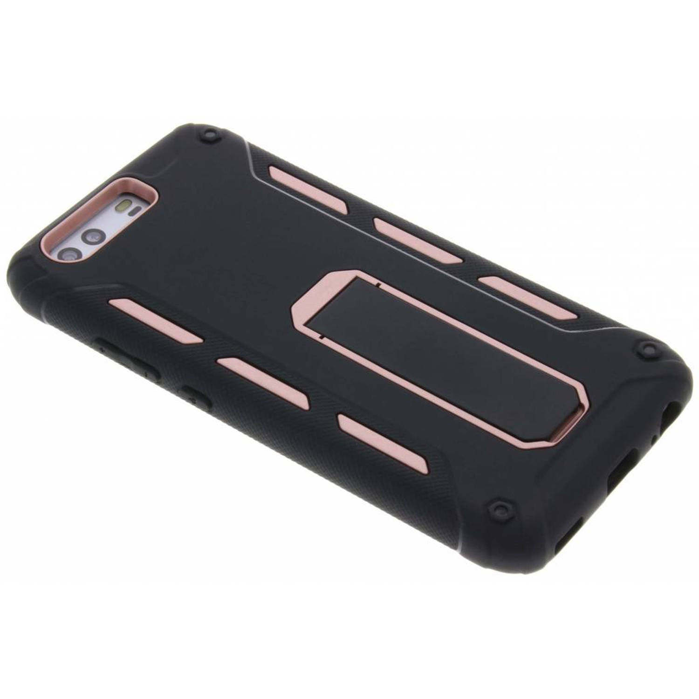 Rosé Gouden ultra stand case voor de Huawei P10