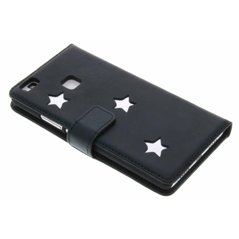 Silver Reversed Star Booktype voor de Huawei P9 Lite