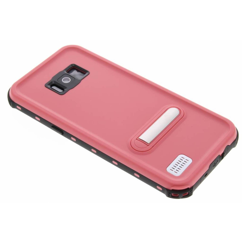 Roze Dot Waterproof Case voor de Samsung Galaxy S8 Plus