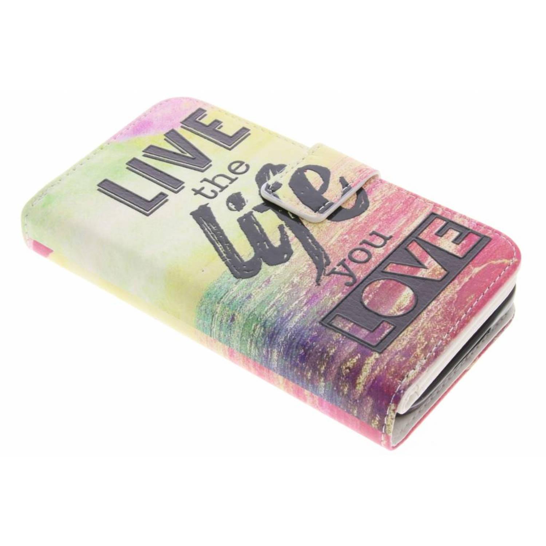 Live the life design tpu portemonnee voor de samsung galaxy s5 (plus) / neo