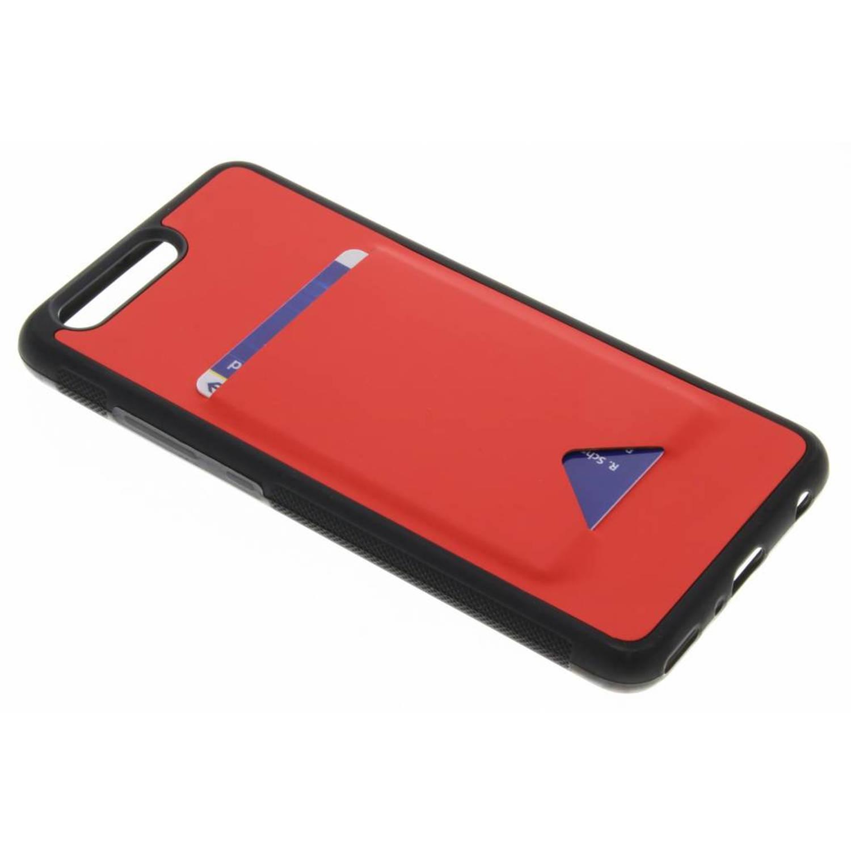 Rode cardslot hardcase voor de huawei p10 plus