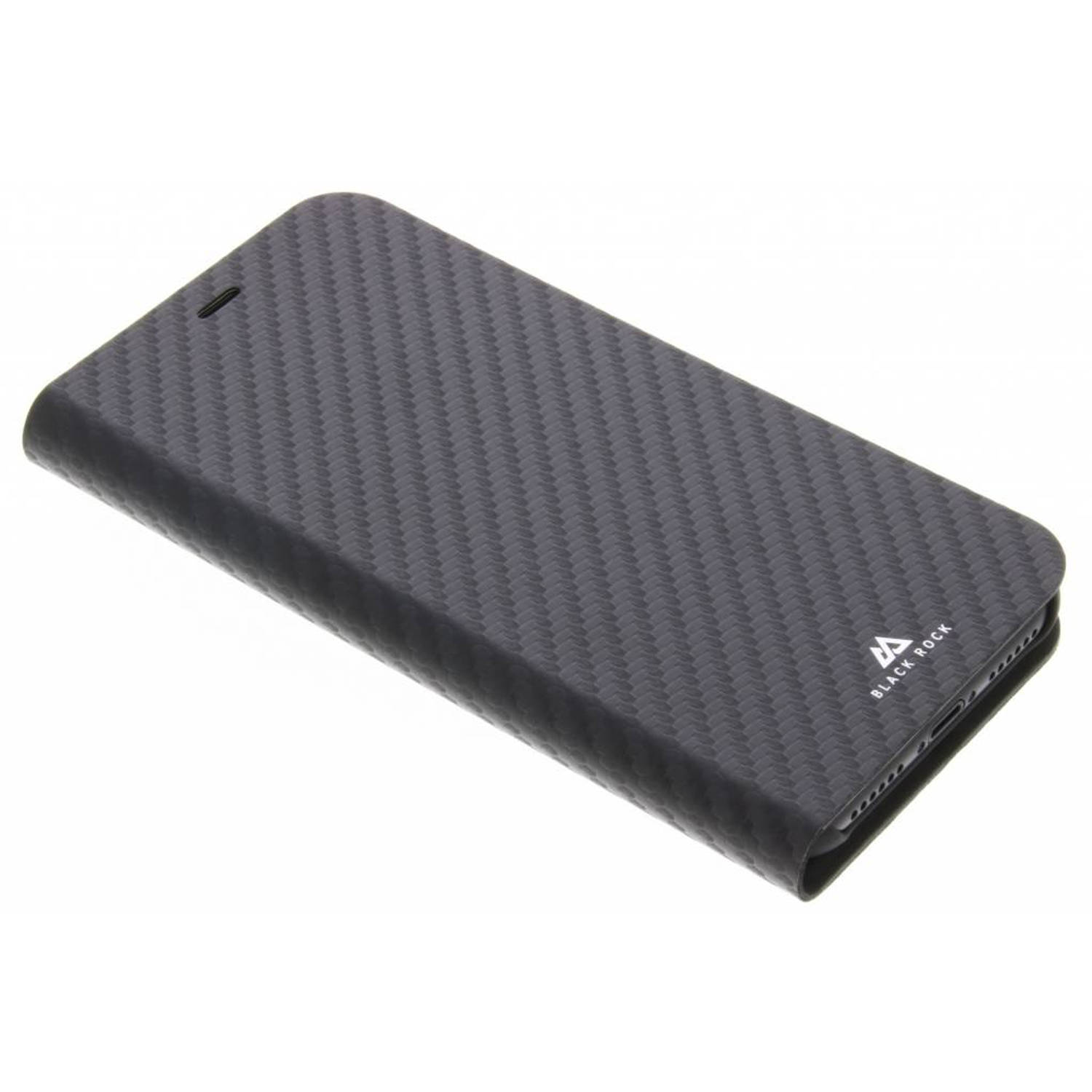 Zwarte Flex Carbon Booklet Case voor de iPhone Xs / X