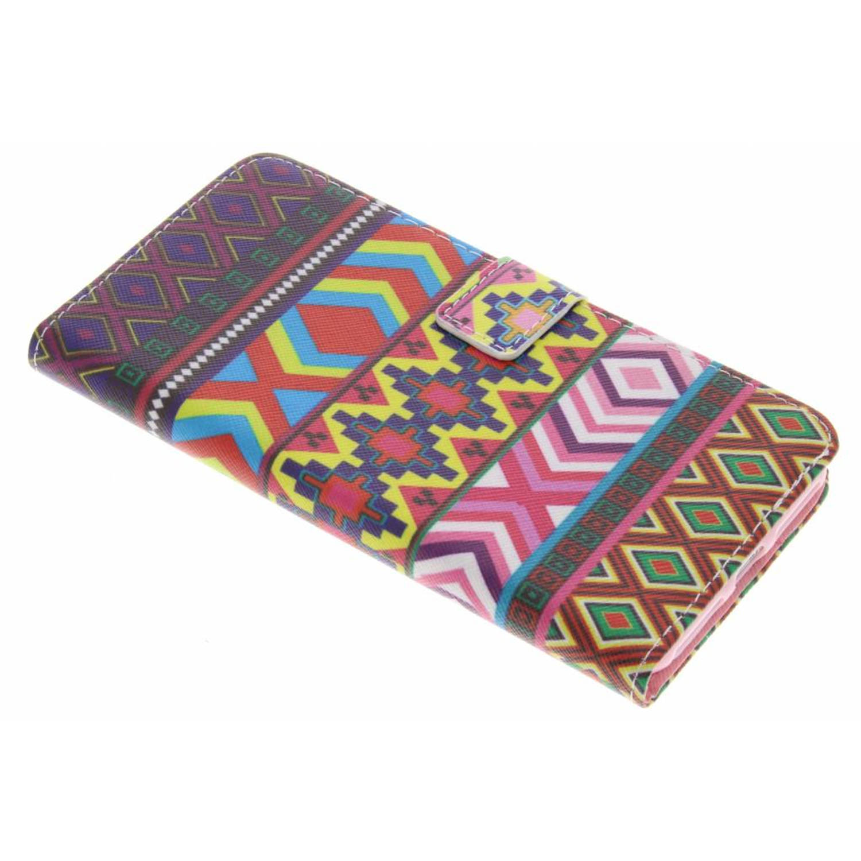 Aztec design TPU booktype hoes voor de iPhone 8 Plus / 7 Plus