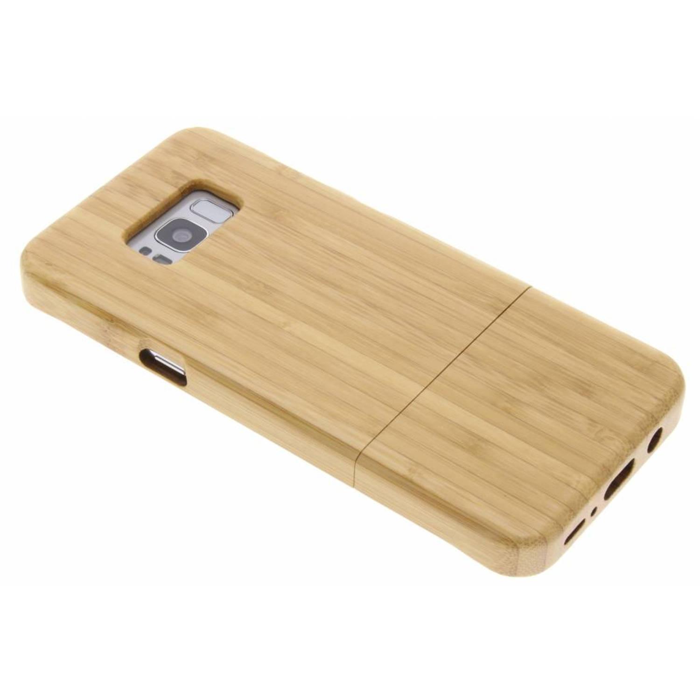 Lichtbruin echt houten hardcase hoesje voor de Samsung Galaxy S8 Plus