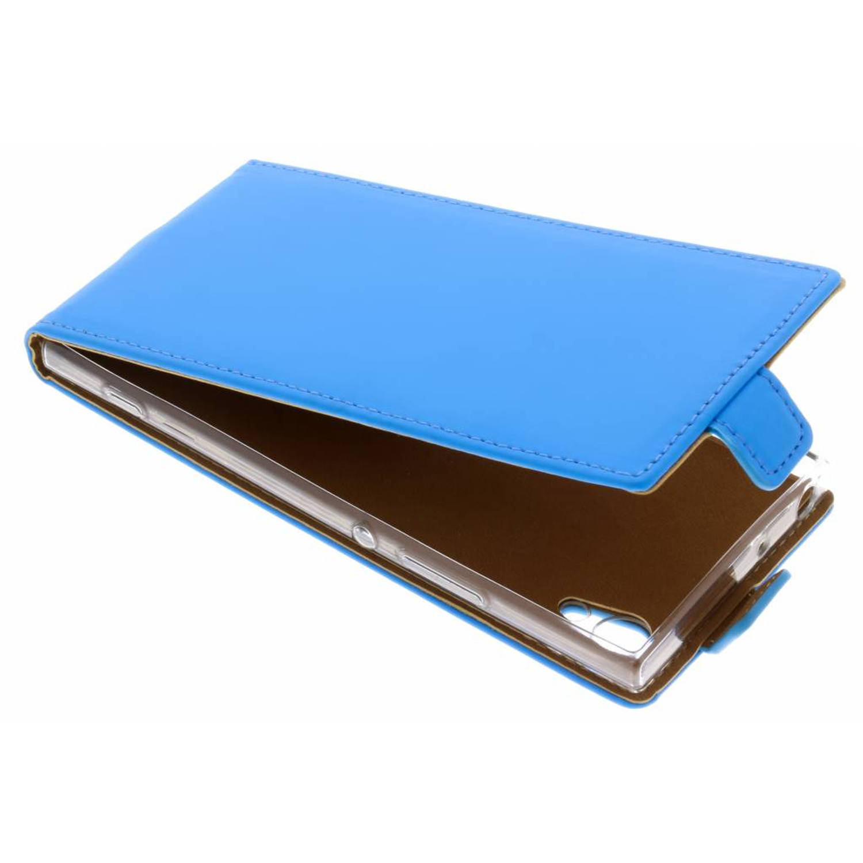 Blauwe luxe tpu flipcase voor de sony xperia xa1