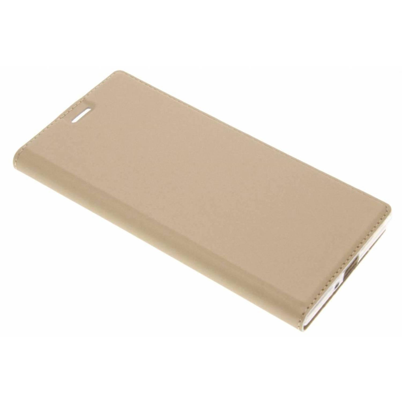 Gouden slim tpu booklet voor de sony xperia xz