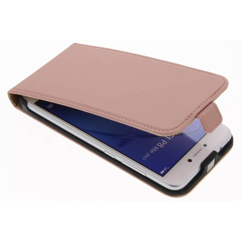 Rosé Gouden Luxe Flipcase voor de Huawei P8 Lite (2017)