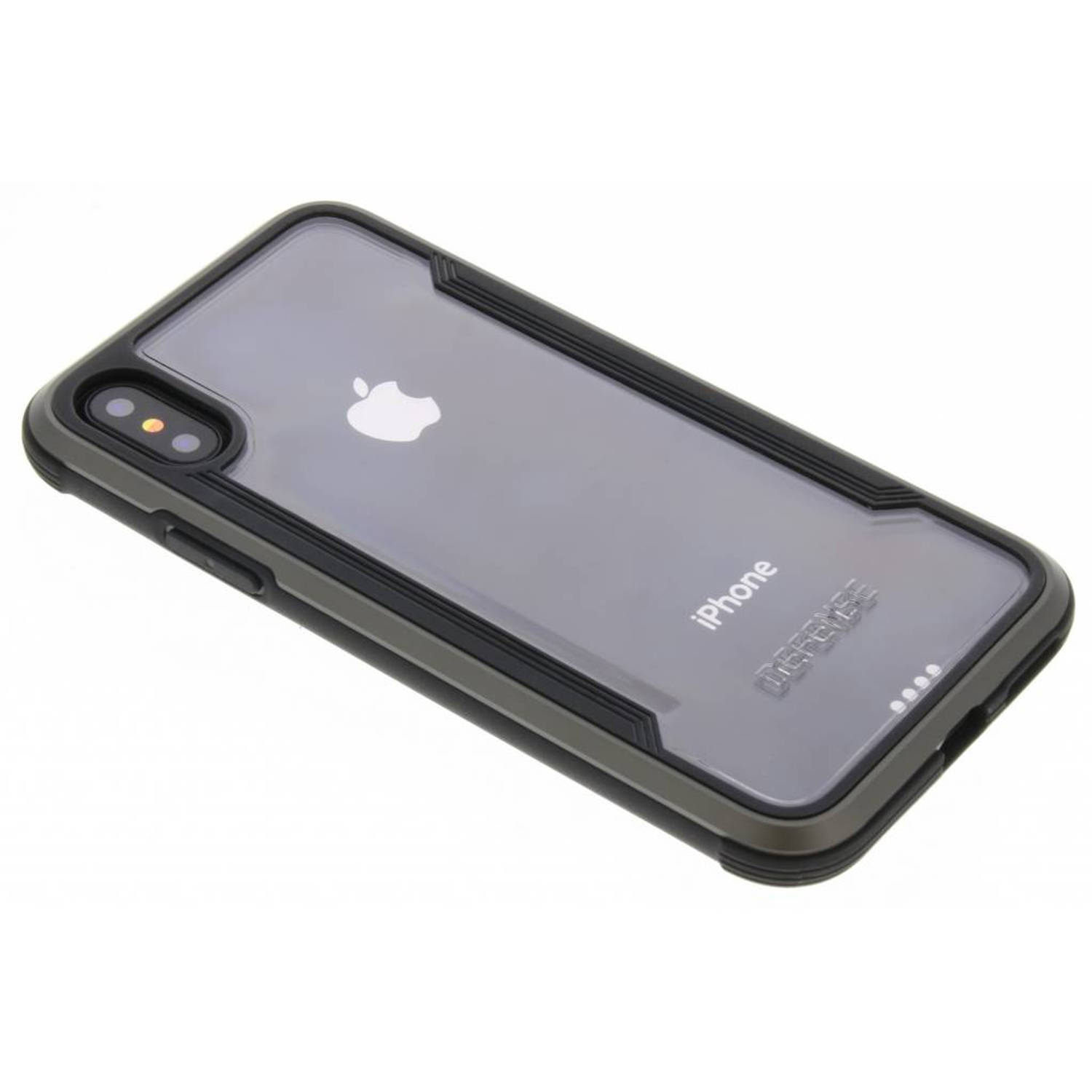 Zwart Defense Shield Cover voor de iPhone Xs X