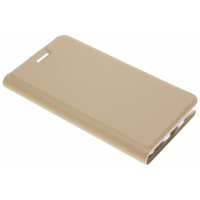Gouden Slim TPU Booklet voor de Huawei Y6 (2017)