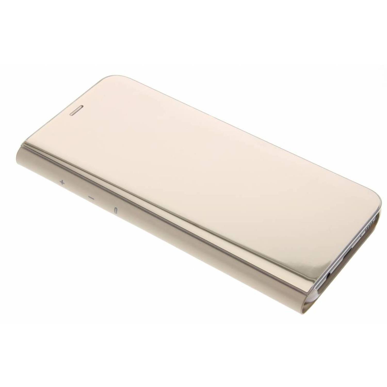 Gouden Clear View Standing Cover voor de Galaxy S8 Plus