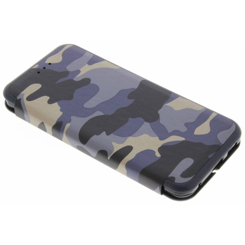 Blauwe Army Slim Folio Case voor de LG G6