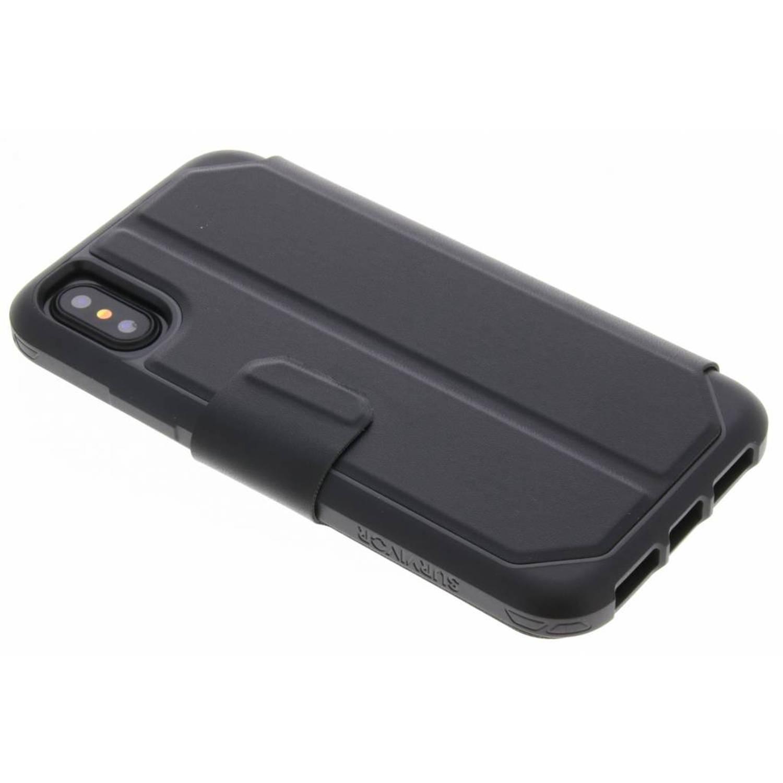 Zwarte Survivor Strong Wallet Case voor de iPhone Xs / X