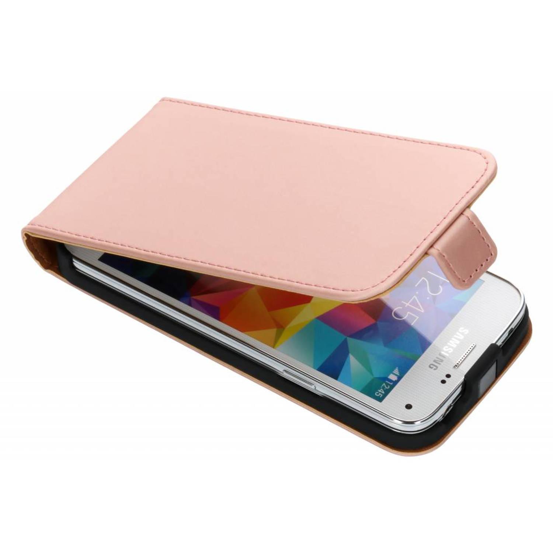 Rosé Gouden Luxe Flipcase voor de Samsung Galaxy S5 Mini