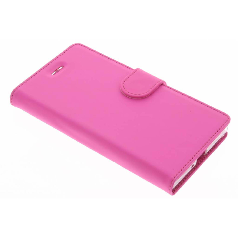 Wallet tpu booklet voor de sony xperia xz / xzs - roze