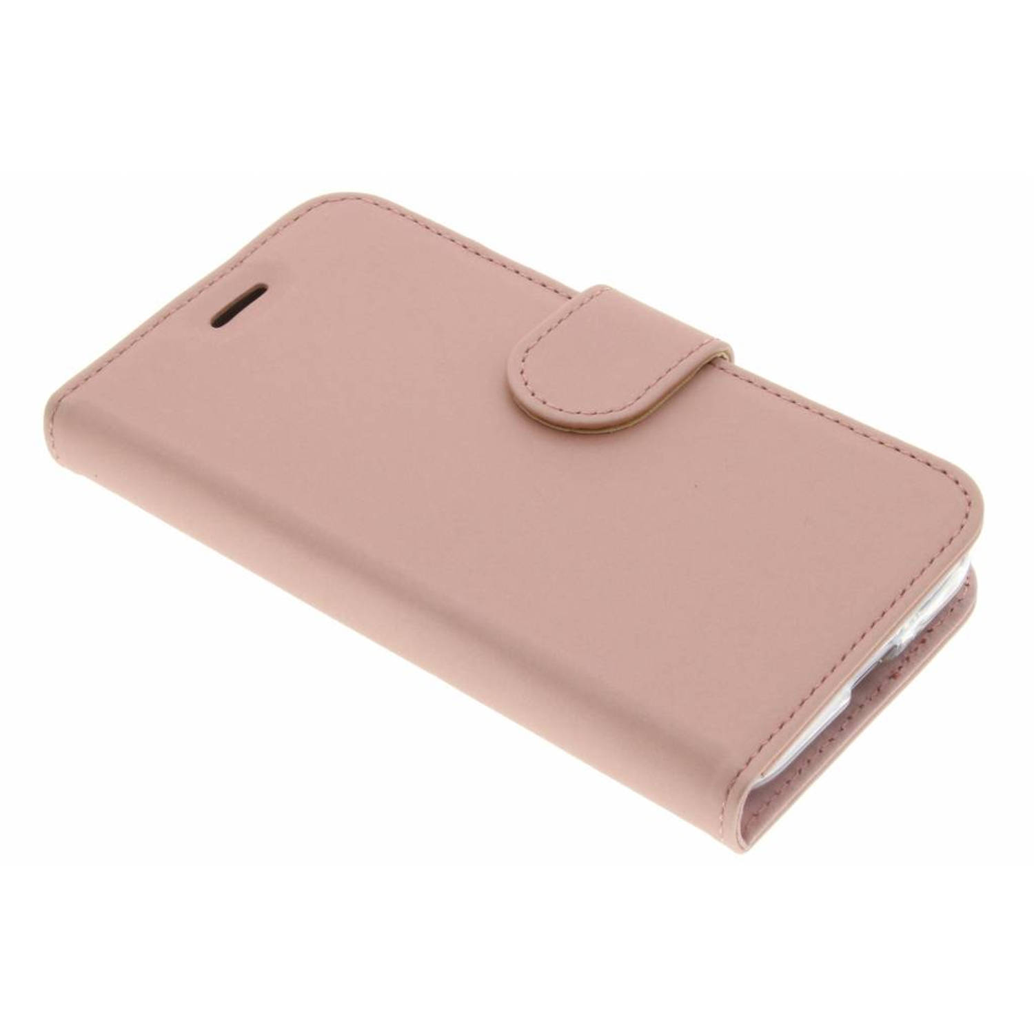 Wallet tpu booklet voor de samsung galaxy j1 (2016) - rose gold