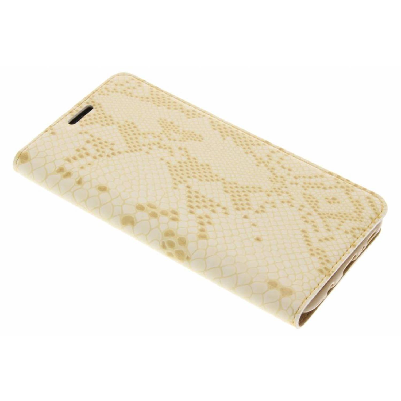 Gouden Luxe slangen TPU booktype voor de Samsung Galaxy S8 Plus