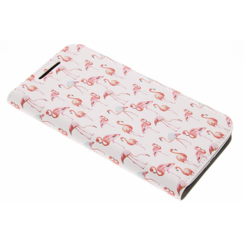 Flamingo Design Booklet voor de Moto G4 (Plus)