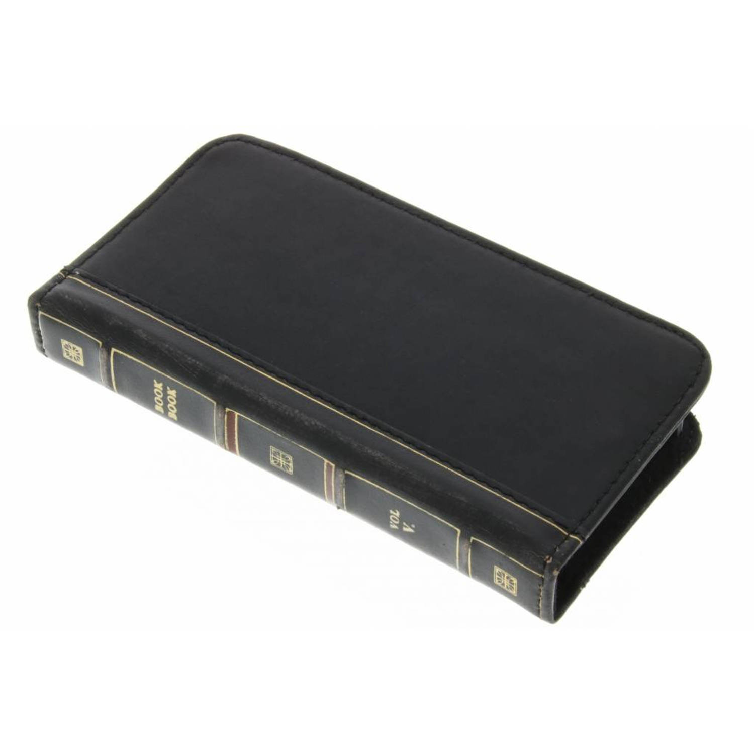 Zwarte BookBook Case voor de iPhone 5 / 5s / SE