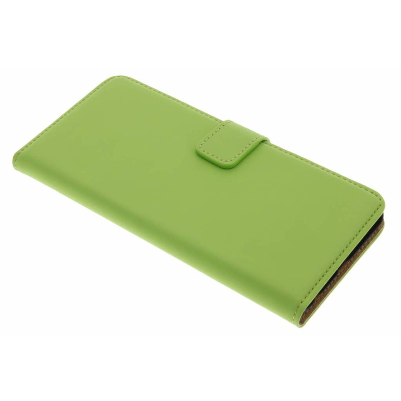 Groene luxe book case voor de huawei p10 plus