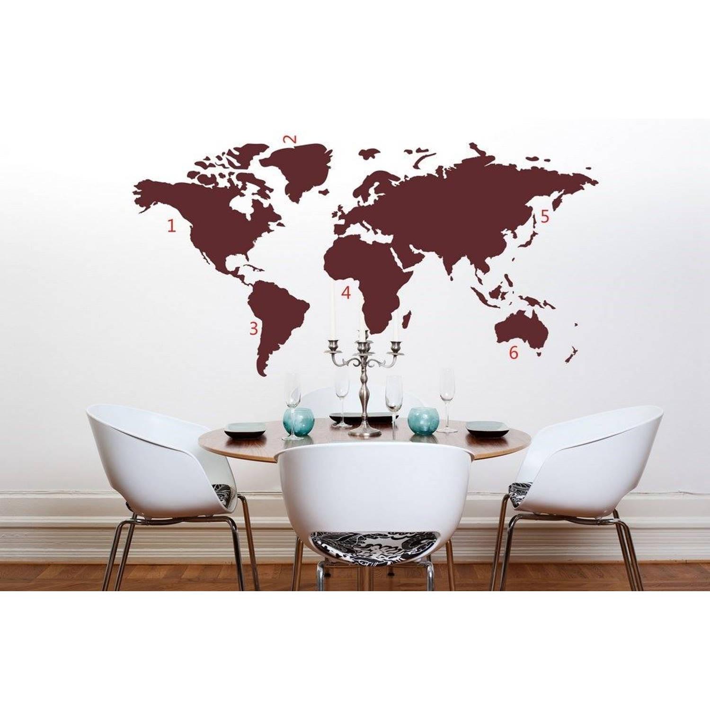 Wereldkaart World Map Red