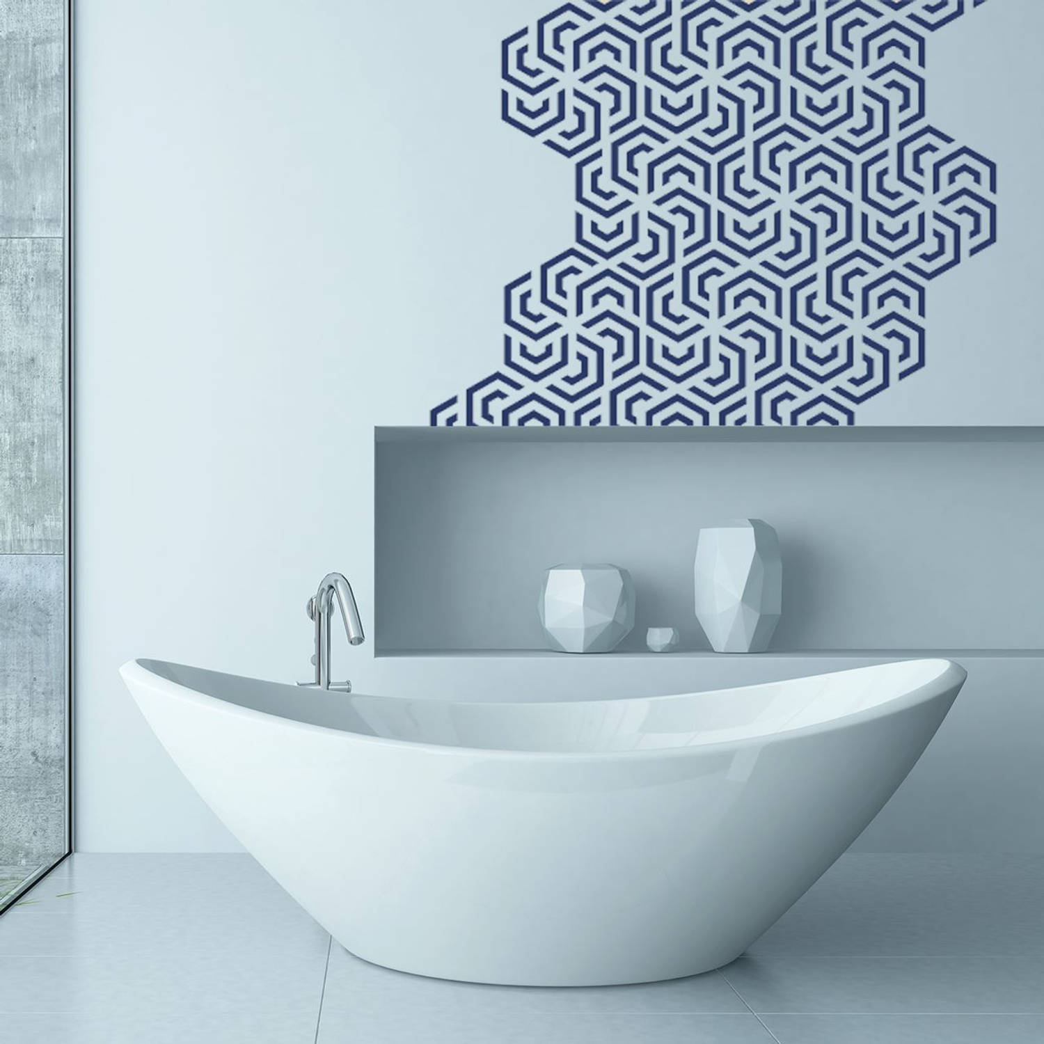 Wall Mural Polygon Geometry Pattern
