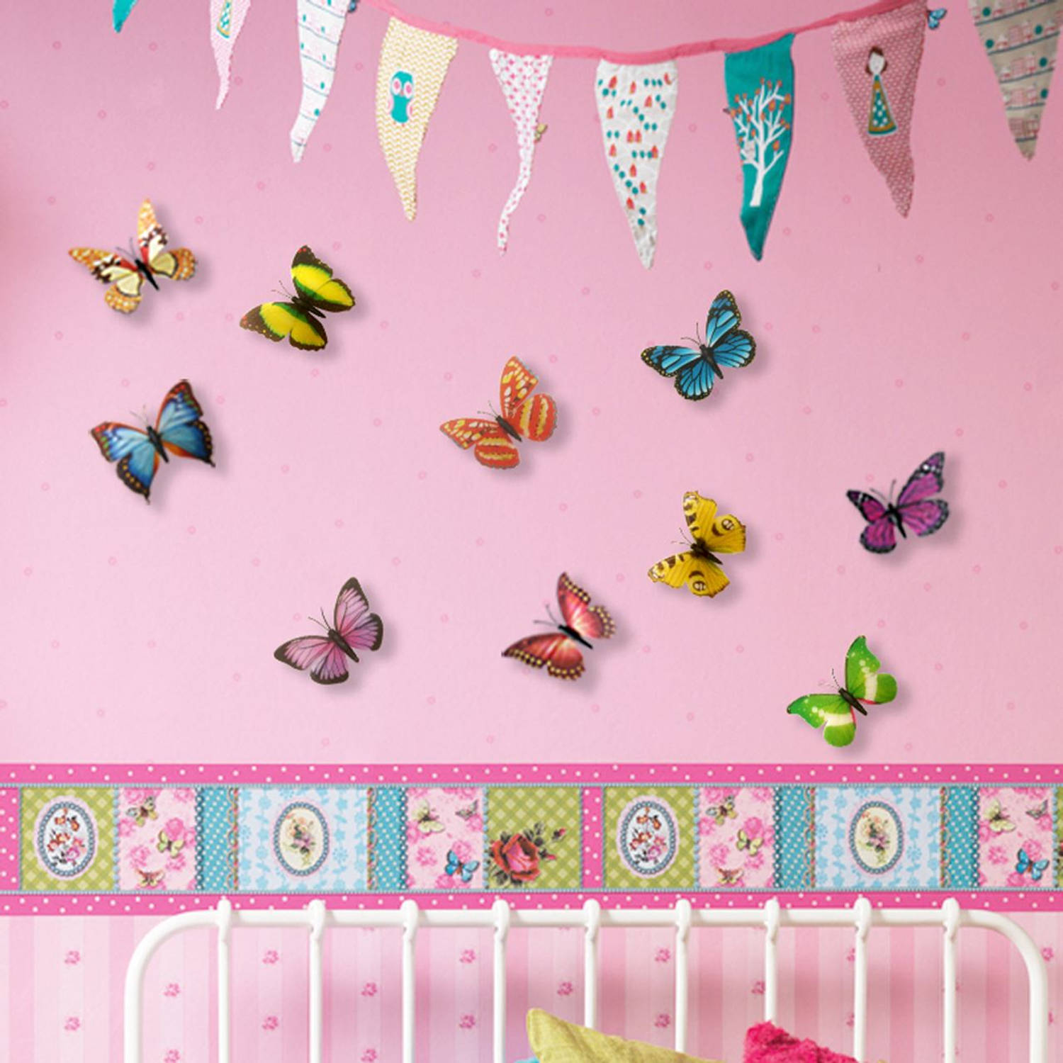 3D Butterflies Colourful