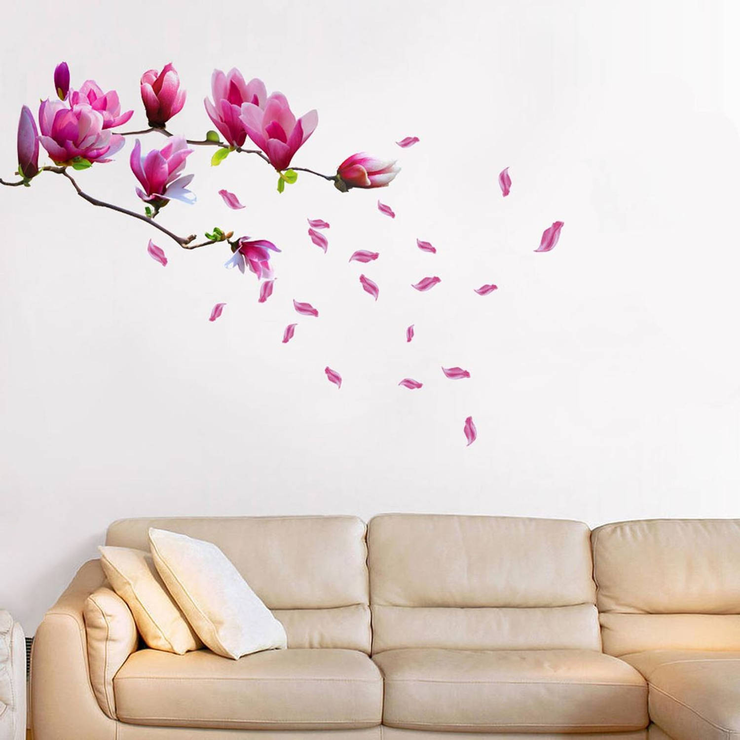 Walplus home decoratie sticker - magnolia bloem
