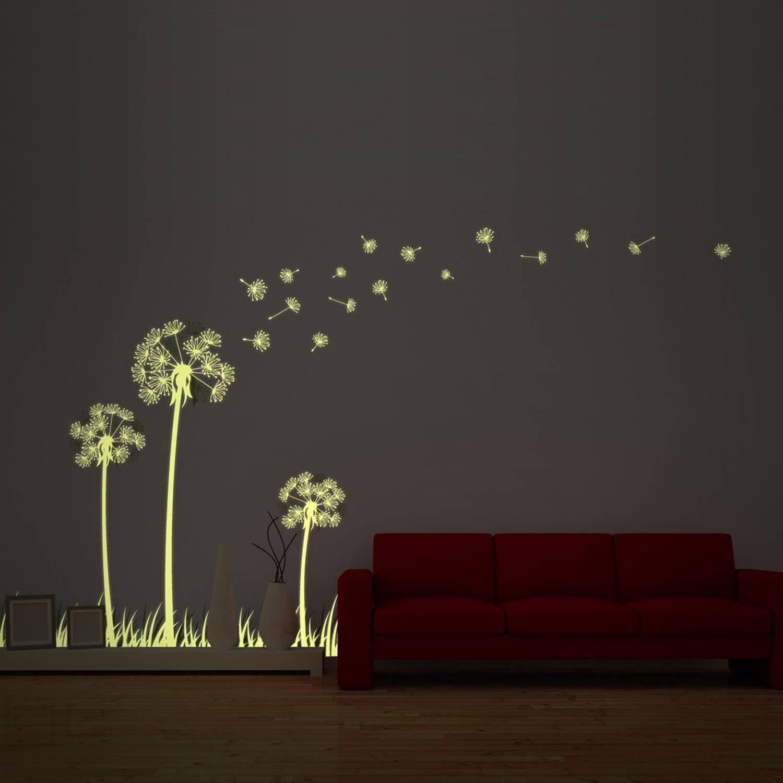Walplus Glow In The Dark Decoratie Sticker - Paardenbloem