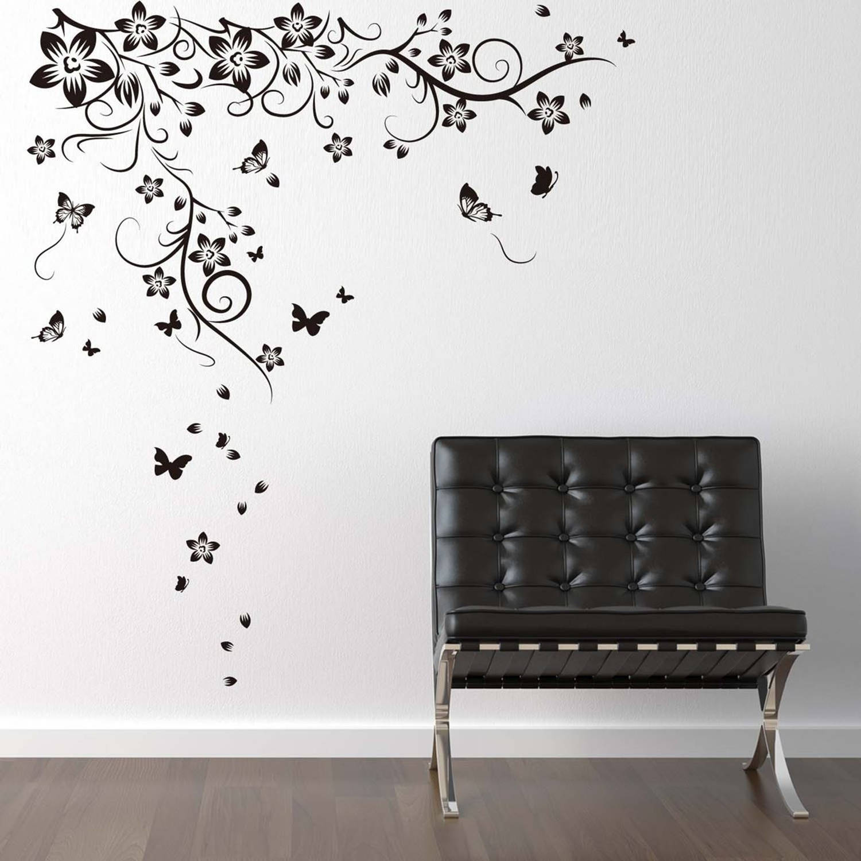 Walplus Home Decoratie Sticker - Grote Vlinder Op Wijnstok