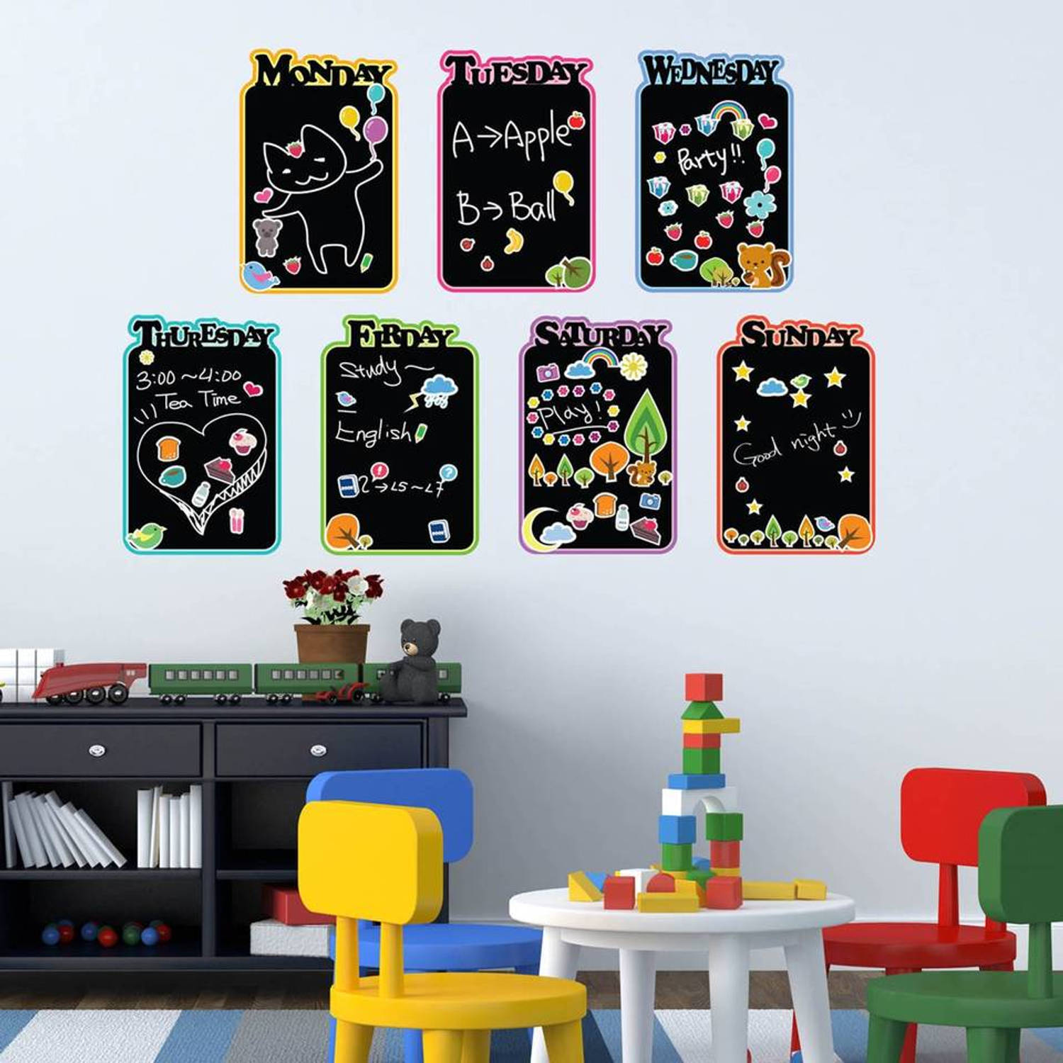 Kids Diary Chalkboard Sticker