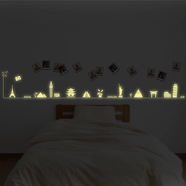 Walplus Glow In The Dark Decoratie Sticker - Reis Rond De Wereld