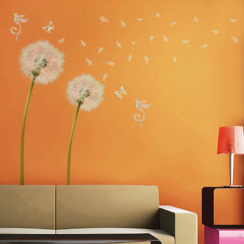 Walplus Home Decoratie Sticker - Witte Paardenbloem