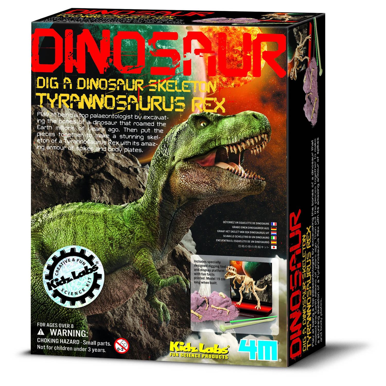 Afbeelding van 4m kidzlabs: graaf-je-dinosaurus-op t-rex (franstalig)