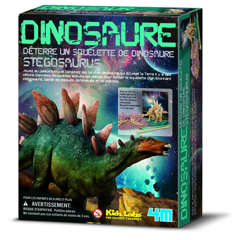 Afbeelding van 4m kidzlabs: graaf-je-dinosaurus-op stegosaurus franstalig