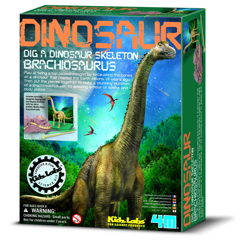 Afbeelding van 4m kidzlabs: graaf-je-dinosaurus-op brachiosaurus franstalig