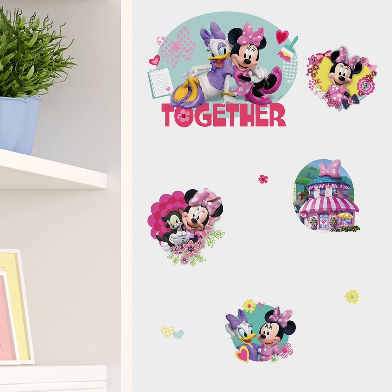 Walplus kids decoratie sticker - disney minnie & katrien