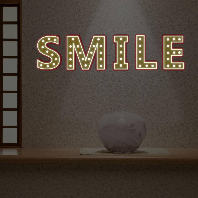 Walplus Glow In The Dark Decoratie Sticker - Bistro Letter Lichten