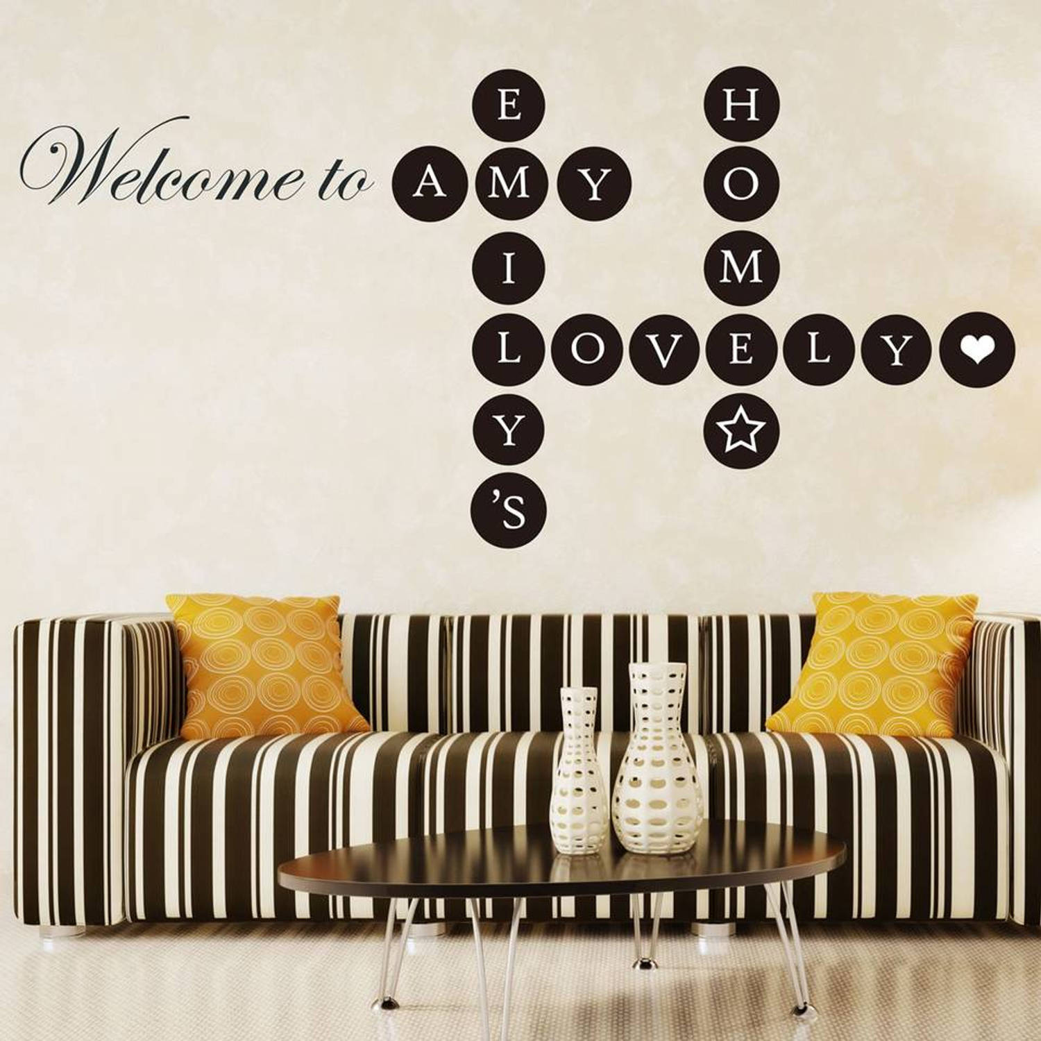 Welcome Home Puzzle Lettering