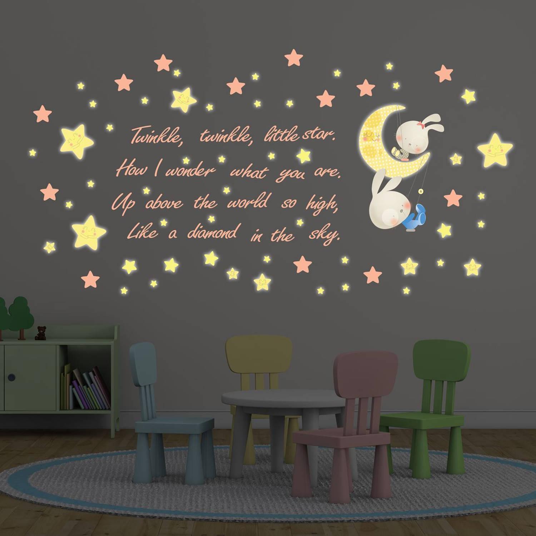 Walplus kids decoratie sticker - twinkel twinkel kleine ster met 20 swarovski kristallen