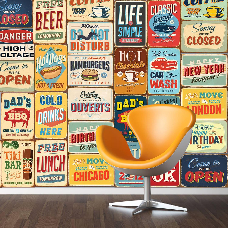 Walplus Decoratie Sticker Vintage Metalen Bord
