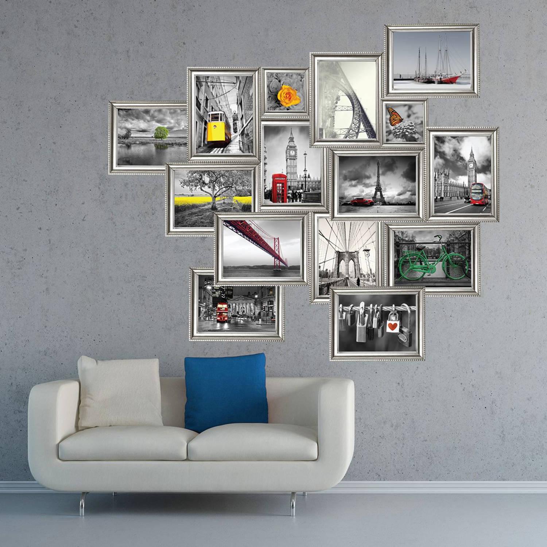 Walplus Home Decoratie Sticker - Zilver Foto Frame Stickers