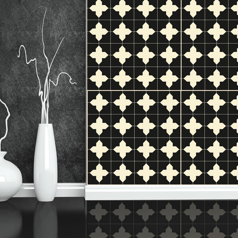 Walplus muur decoratie sticker - kruis patroon 4 x stickervel