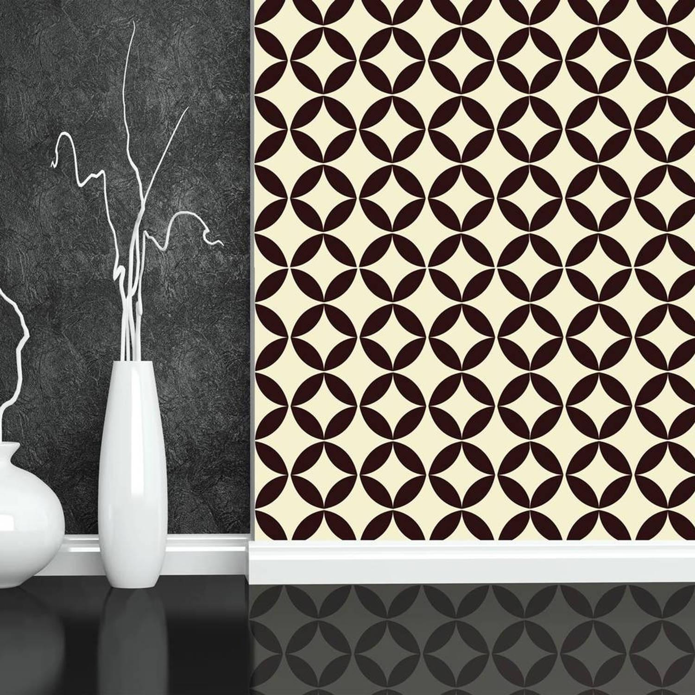 Walplus Decoratie Sticker Muursticker Cirkel Ster Patroon