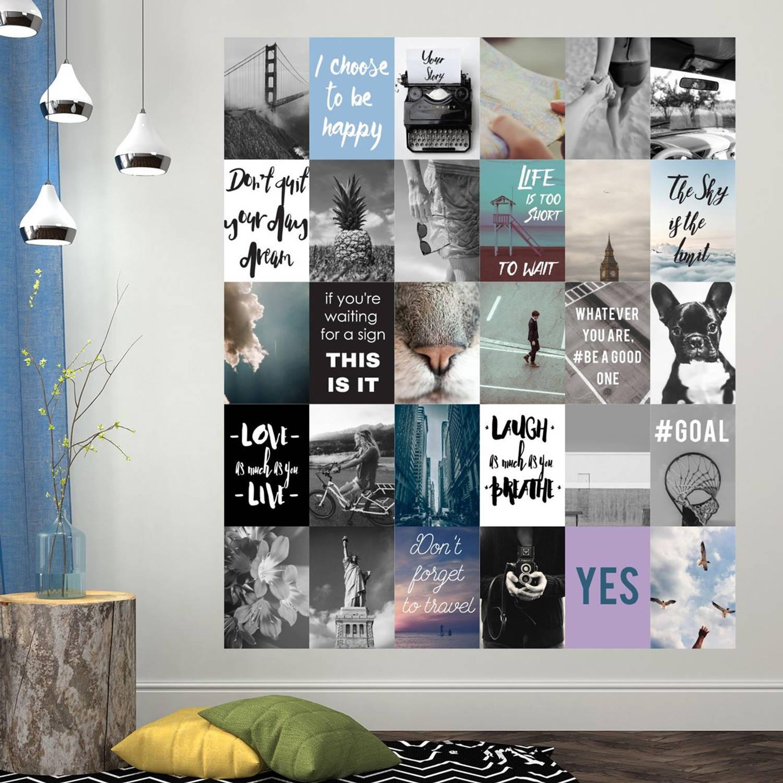 Walplus Decoratie Sticker Muursticker Quotes & Foto's Collage