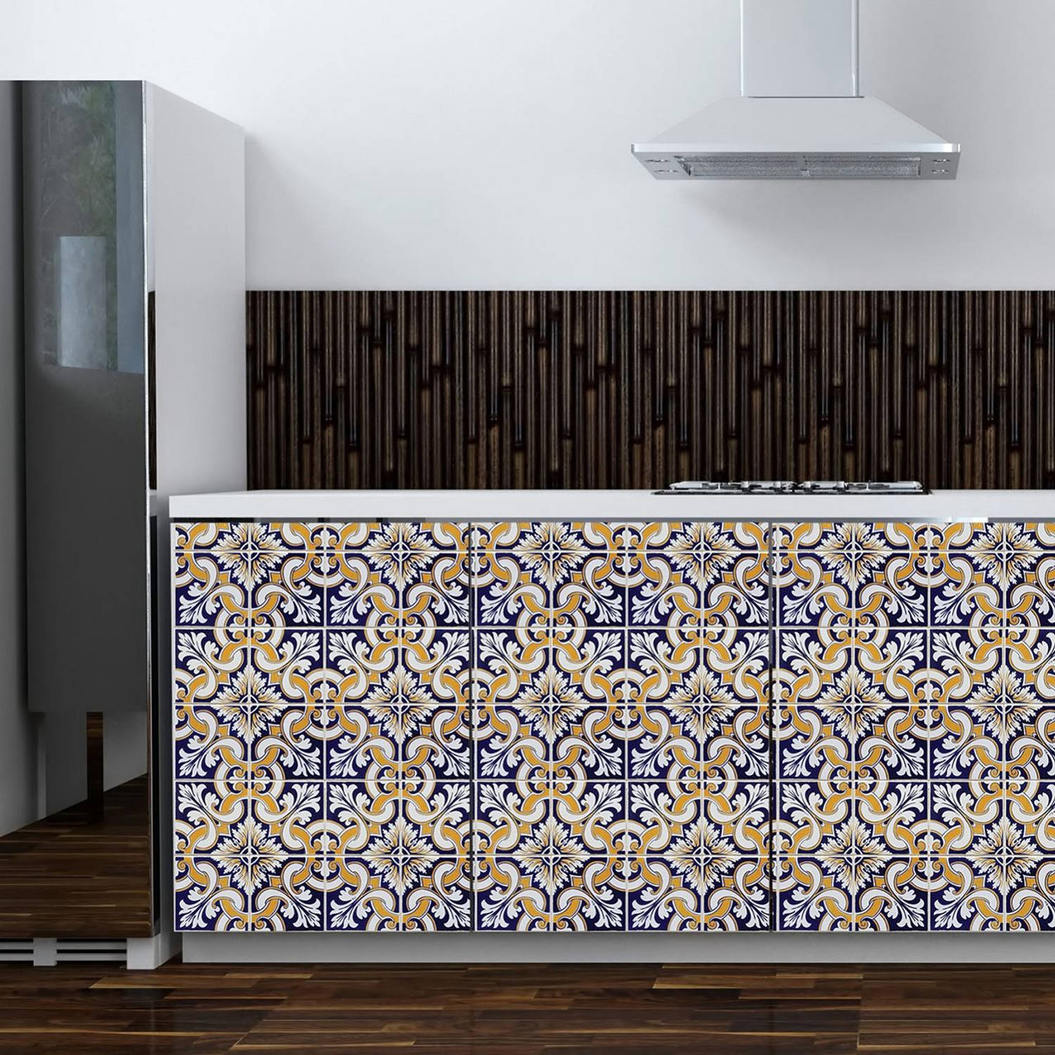 Walplus muur decoratie sticker - talavera tegels 6 x stickervel
