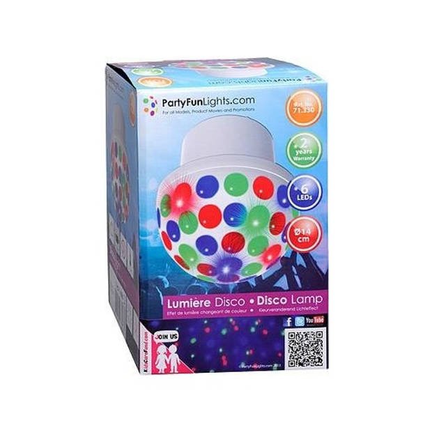Party funlights discolamp moonflower plafond 15 cm