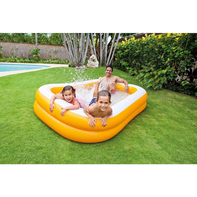 Intex zwembad 229 x 147 x 46 cm oranje